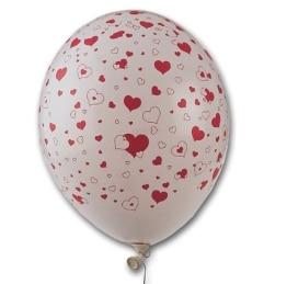 Luftballons, 50 Stück, mit Herzen bedruckt, heliumgeeignet - 1