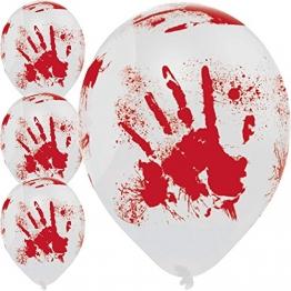 Luftballons blutige Hände für Halloween Rot Weiß 1