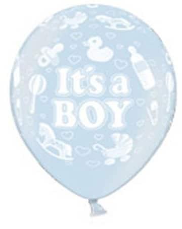 """Luftballons zur Geburt: blau, Schriftzug """"It's A Boy"""", 10er-Pack - 2"""