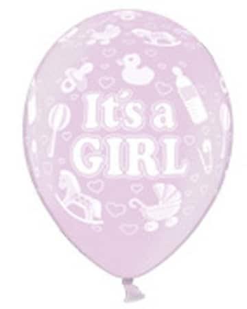 """Luftballons zur Geburt: rosa, Schriftzug """"It's A Girl"""", 10er-Pack - 8"""
