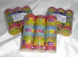 Luftschlange: Party-Luftschlangen, bunt bedruckt, 9 Streifen, 4 m, 3er-Pack - 1