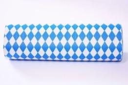 Luftschlangen, 4 m lang, blau-weiße Rauten - 1