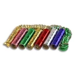Luftschlangen, Holografie-Folie, 7 mm Breite, 4 m Länge, 1 Rolle - 1