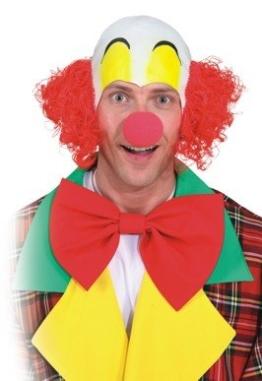lustige Clownglatze mit Haaren - 1
