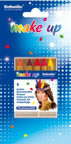 Make-up: Action-Schminkstifte, verschiedene Farben, 5er-Pack - 1