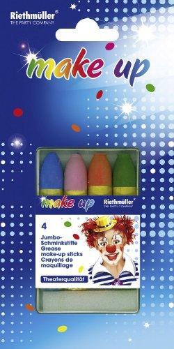 Make-up: Jumbo-Schminkstifte, verschiedene Farben, 4er-Pack - 1