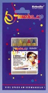Make-up: Schminkstifte, verschiedene Glitterfarben, 5er-Pack - 1