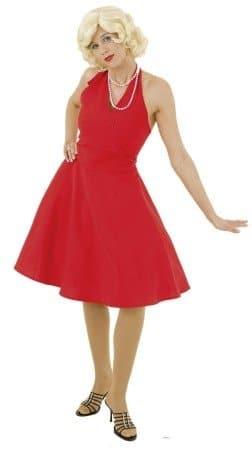 Marylinkleid rot rückenfrei - 1