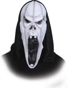 Maske: Halloween-Maske, Geist (Schrei/Scream), weiß - 1