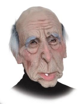 Maske: Opa, Latex mit Fellbesatz - 1