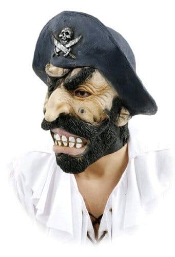 Maske: Pirat, schwarzer Bart, Latex, für Erwachsene - 1
