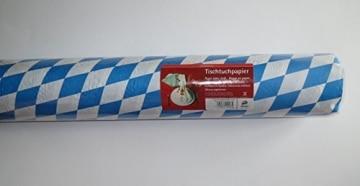Maxi-Papier-Tischtuch-Rolle: blau-weiße Rauten, 50 x 1 m - 1