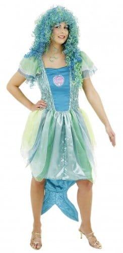 Meerjungfrau-Kleid: Chiffon/Satin, bau-grüne Farbtöne - 2