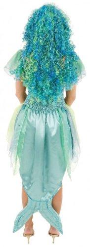 Meerjungfrau-Kleid: Chiffon/Satin, bau-grüne Farbtöne - 3