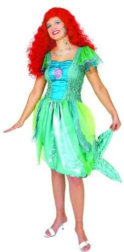 Meerjungfrau-Kleid: Chiffon/Satin, bau-grüne Farbtöne - 4