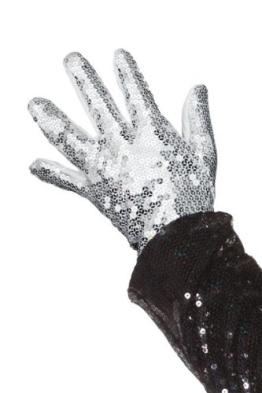 Michael Jackson Pailetten-Handschuh Glitzerhandschuh - 1
