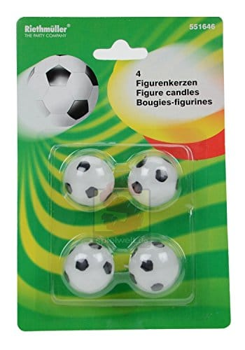 Mini-Deko-Kerzen Fussballparty 4er-Pack, Deko WM 2010 - 1