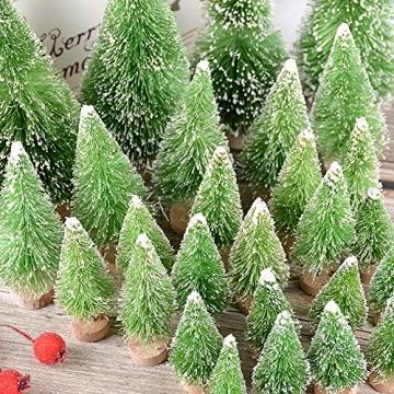 Miniatur Weihnachtsbäume als Deko, Tisch, Fenster 2
