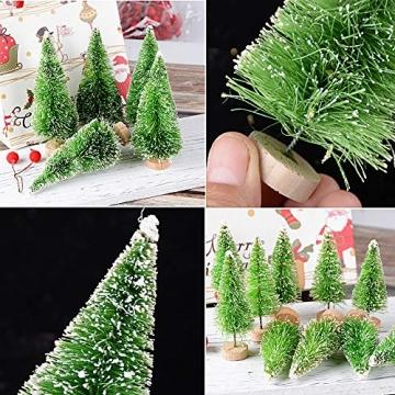 Miniatur Weihnachtsbäume als Deko, Tisch, Fenster 5