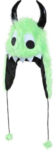 Monster Fellmütze, grün - 1