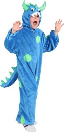 Monster-Kostüm: Overall, blau-grün, verschiedene Kindergrößen - 1