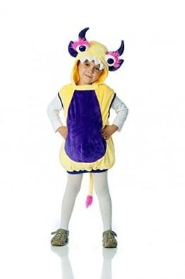 Monsterweste Loki gelb-lila für Kinder, Verkleidung Monster Kostüm - 1