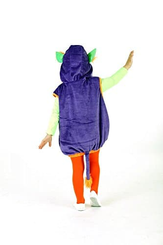 Monsterweste Spooki lila-orange für Kinder, Verkleidung Monster Kostüm - 2