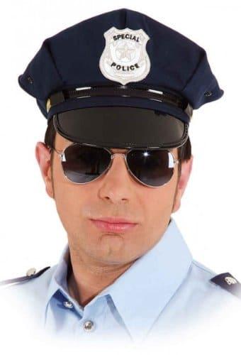 """Mütze: amerikanische Polizeimütze, """"Special Police"""", blau, verschiedene Größen - 1"""