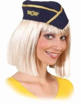 Mütze: Stewardess-Mütze, dunkelblau - 1