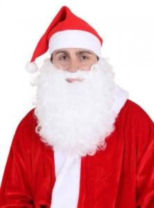 Mütze: Weihnachtsmannmütze, rot, Vlies - 1