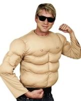 Muskel-Kostüm: Shirt mit Muskeln, Einheitsgröße - 1
