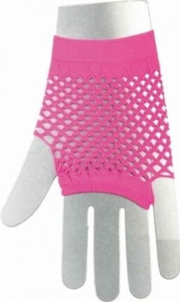 Neon-Netzhandschuhe fingerlos kurz - 1