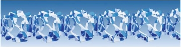 Netz-Rautengirlande, weiß-blau, 4 m, 12 x 12 cm - 1