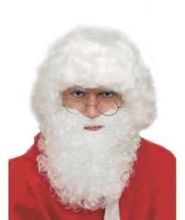 Nikolaus: Weihnachtsmann-Bart, weiß - 1