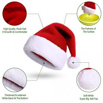 Nikolausmütze kuschelweich und hochwertig Santa Mütze Kinder und Erwachsene 3