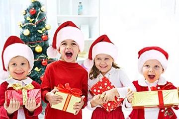 Nikolausmütze kuschelweich und hochwertig Santa Mütze Kinder und Erwachsene 5