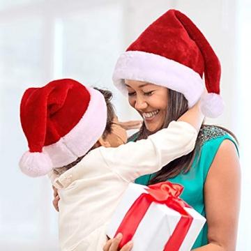 Nikolausmütze kuschelweich und hochwertig Santa Mütze Kinder und Erwachsene 6