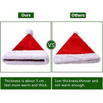 Nikolausmütze kuschelweich und hochwertig Santa Mütze Kinder und Erwachsene 7