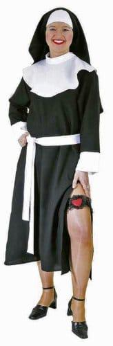 Nonnen-Kostüm: sexy Kleid und Haube - 1