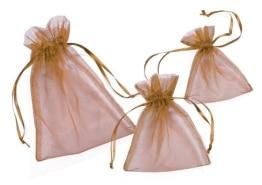 Organza-Säckchen, kupferfarben, 13 x 10 cm, 12er-Pack - 1