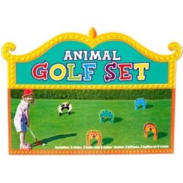 Outdoor-Spielzeug: Minigolf-Set mit Toren, Schlägern und Bällen, 11-teilig - 1
