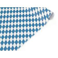 Papier-Tischtuch-Rolle: blau-weiße Rauten, 10 x 1 m - 1