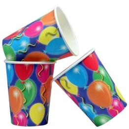 Pappbecher: Trinkbecher, Serie Balloons, 250 ml, 8er-Pack - 1