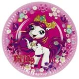 """Pappteller: Party-Teller, """"Filly Fairy"""", 23 cm, 8er-Pack - 1"""