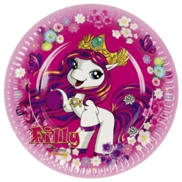 "Pappteller: Party-Teller, ""Filly Fairy"", 23 cm, 8er-Pack - 1"