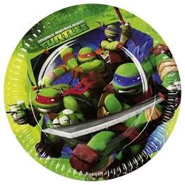"Pappteller: Party-Teller, ""Teenage Mutant Ninja Turtles"", 23 cm, 8er-Pack - 1"