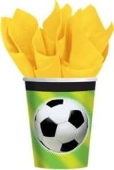 Party-Becher: Fußball-Motiv, 266 ml, 8er-Pack - 1