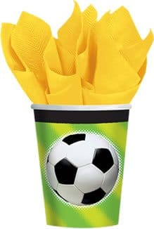 Party-Becher: Fußball-Motiv, 266 ml, 8er-Pack - 1
