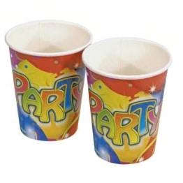 """Party-Becher: Pappbecher, """"Ballon-Party"""", 250 ml, 8er-Pack - 1"""
