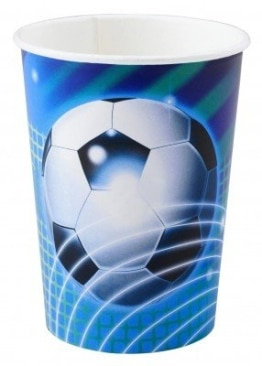 Party-Becher: Pappbecher, Fußball-Party, 250 ml, 8er-Pack - 1